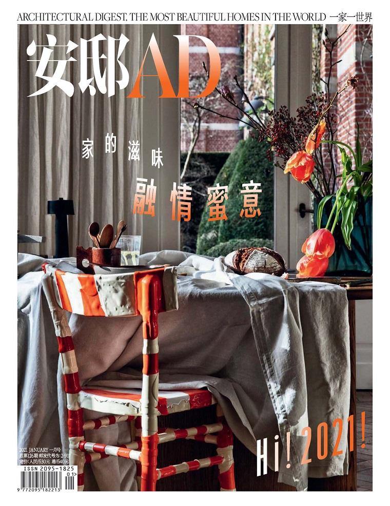 安邸AD 建筑辑要国际权威设计杂志 2021年01月号 家的滋味 融情蜜意