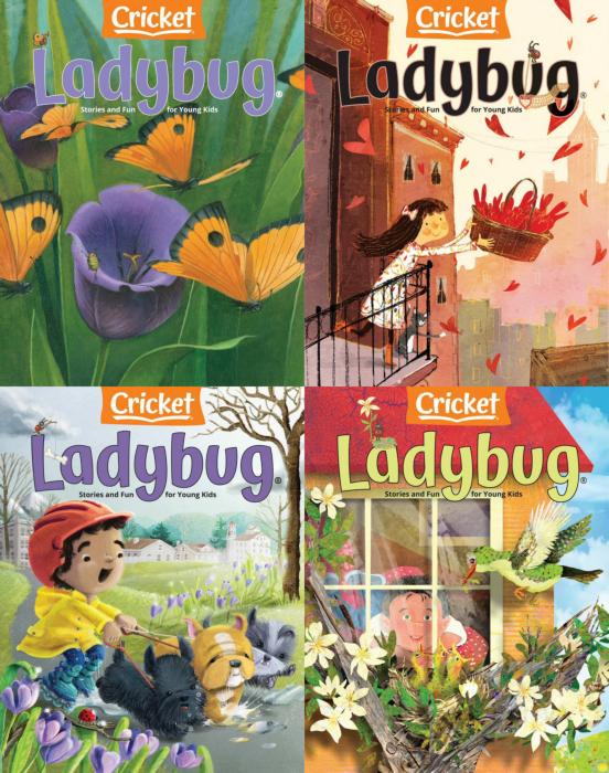 Ladybug 儿童英文杂志 3-6岁 2021年全年订阅
