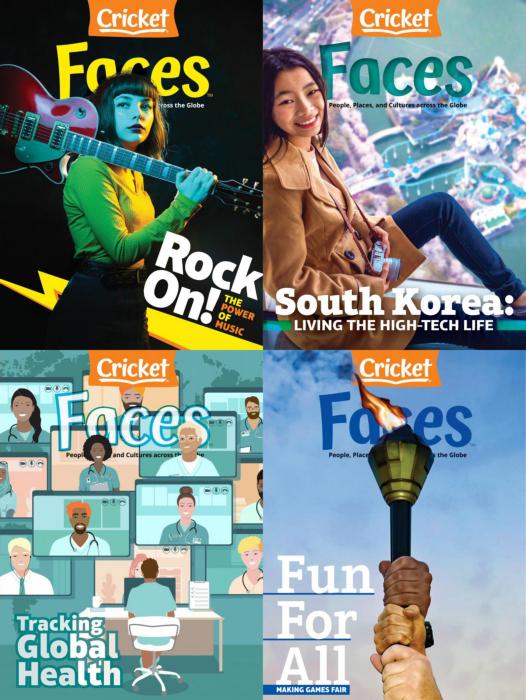 Faces 儿童英文杂志 9-14岁 2021年全年订阅