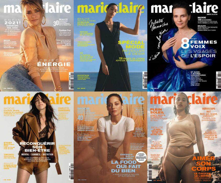 Marie Claire 法国版 嘉人时尚杂志 2021年全年订阅