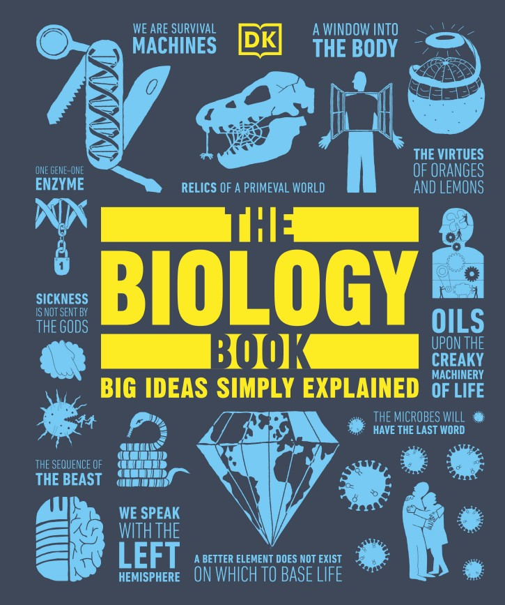 the biology book the big ideas simply explained BY DK2021